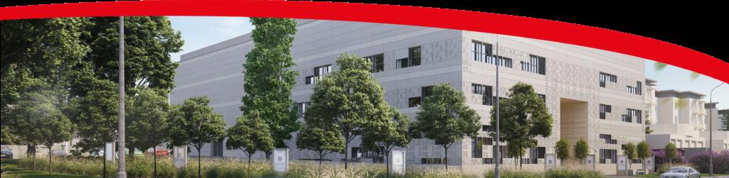 Stopka strony z wizualizacją nowego budynku Archiwum